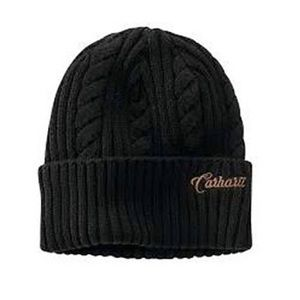 Carhartt Rib Knit Fisherman Beanie in Black
